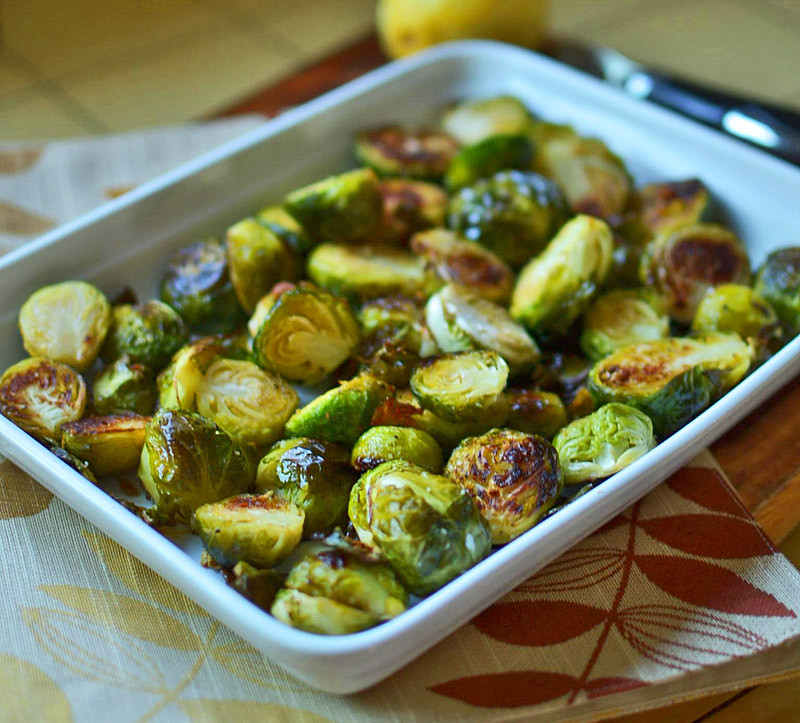 Roasted Brussel Sprouts with Lemon Zest via LittleFerraroKitchen.com