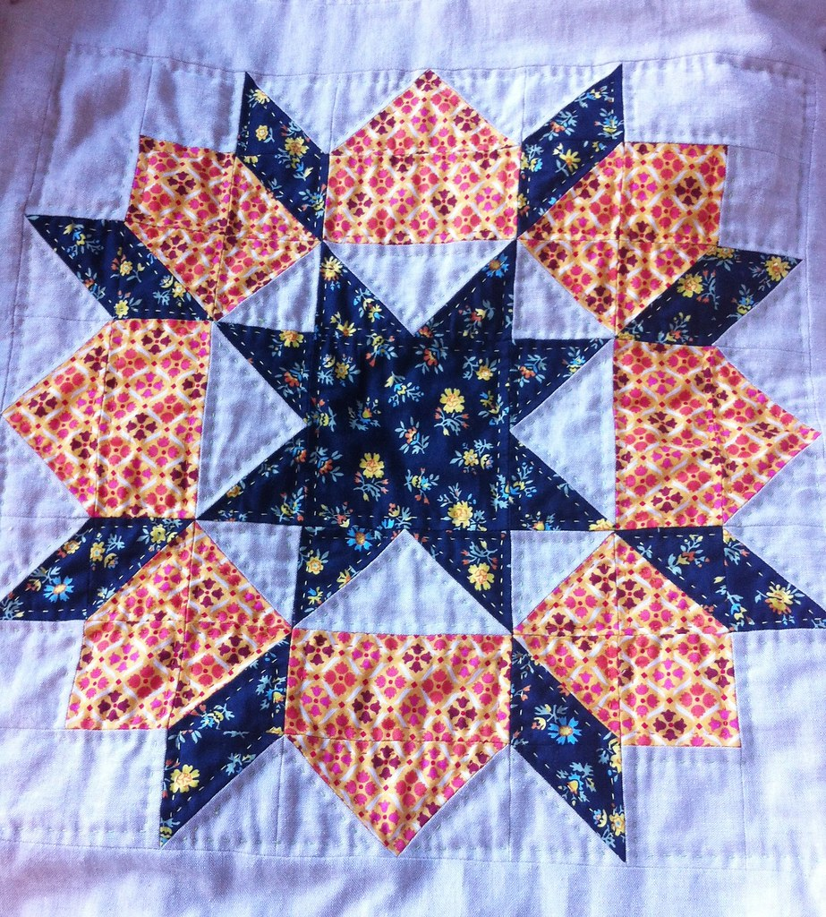 Swoon Quilt Block 2, Quilted