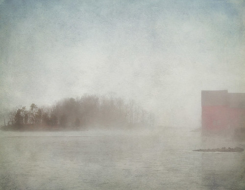 mist lake texture water weather fog landscape pond sony scenic rye redbarn westchestercounty