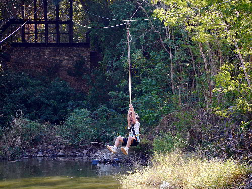 tarzan swing zip line