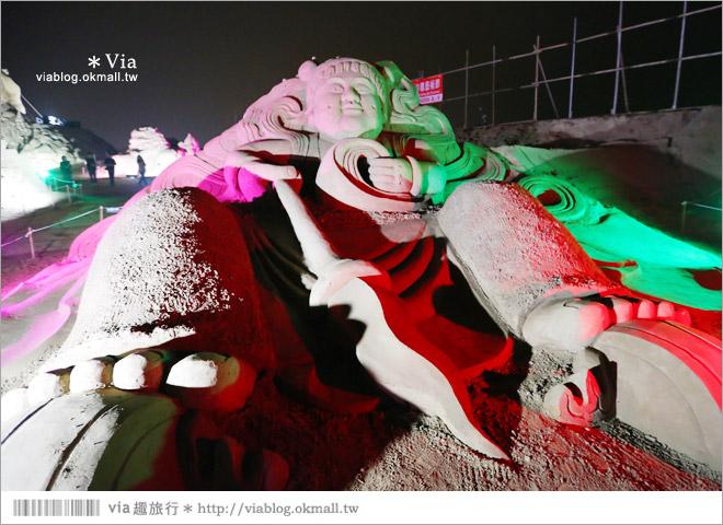 【2014台灣燈會在南投】南投沙雕燈會~夜間點燈好浪漫!還有精彩光雕秀15