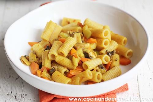 Macarrones integrales con verduras www.cocinandoentreolivos (12)