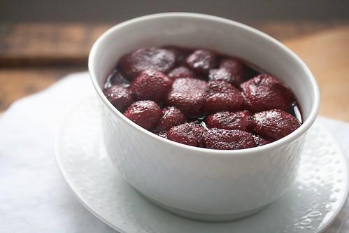 Red Wine Vanilla Roasted Strawberries