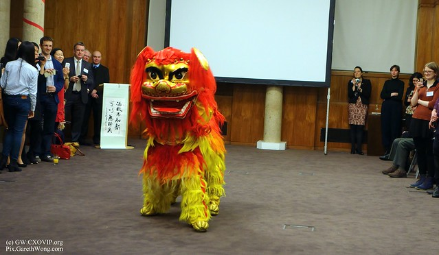 Chinese Northern Lion 北狮 dance at the 2nd University of Liverpool CNY Chinese New Year dinner reception from RAW _DSC4495