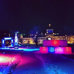 Old Port skating rink at Bassin Bonsecours (a skating rink that's actually on the river). #keepinitmontreal #sorrypat #montreal
