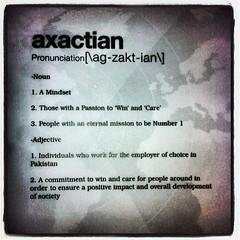 Def: aXactian - #axact #axactian #meaning #mindset #attitude #persona #work #pakistan #worldsleadingitcompany