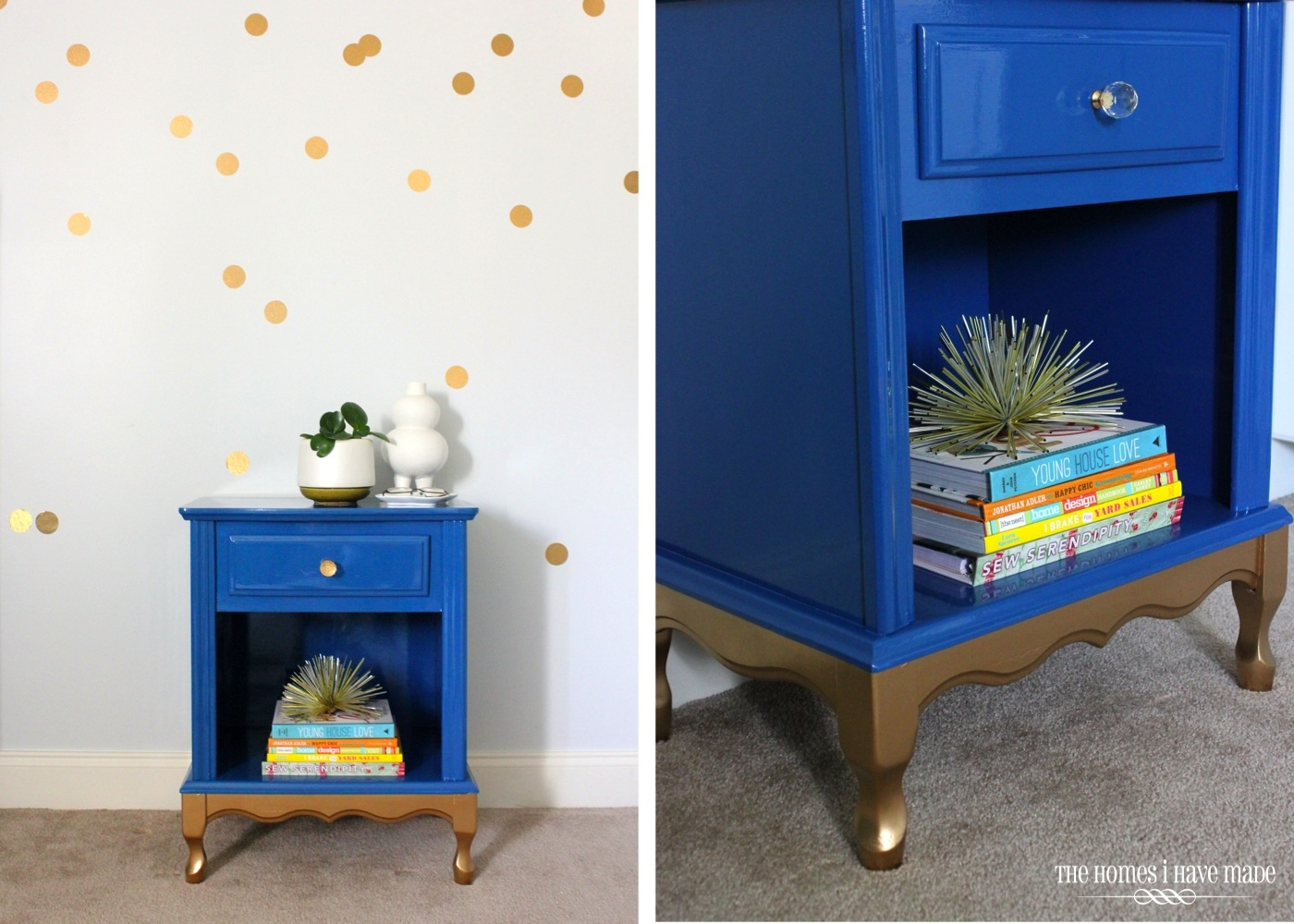 Blue and Gold Nightstand-008