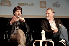 Jesse Eisenberg and David Fincher 2