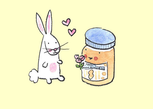 bunny and peanut butter