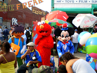 Pokemon,Elmo & Micky Mouse (Coney Island 2009)