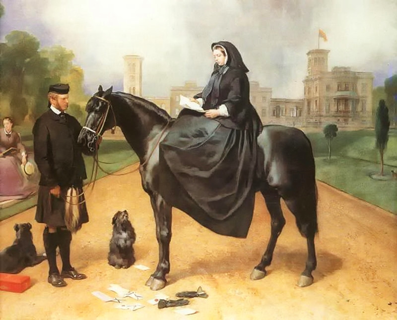 Queen Victoria at Osborne House by Edwin Henry Landseer, 1864