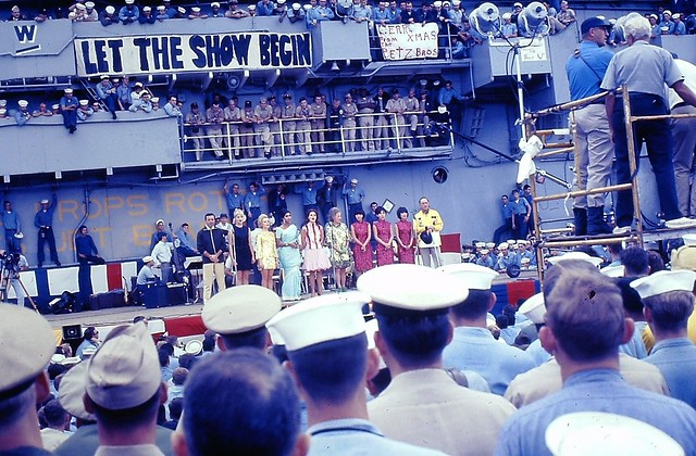 Vietnam War 1966 - Bob Hope USO Show on USS Bennington