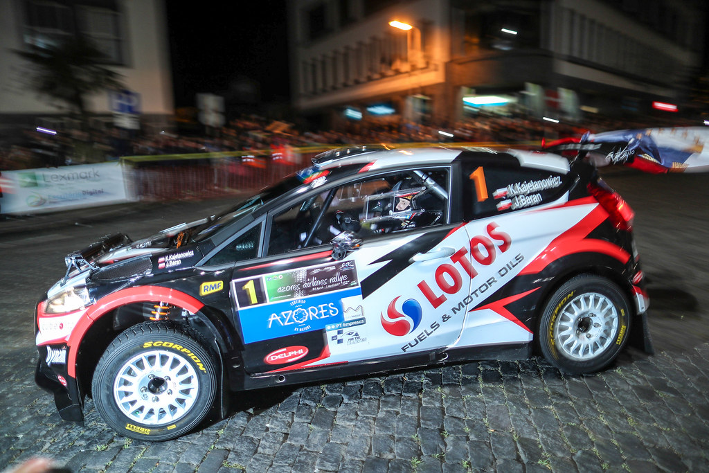 01 KAJETANOWICZ Kajetan  BARAN Jaroslaw Ford Fiesta R5 Action during the 2017 European Rally Championship ERC Azores Rally - Photo Jorge Cunha / DPPI
