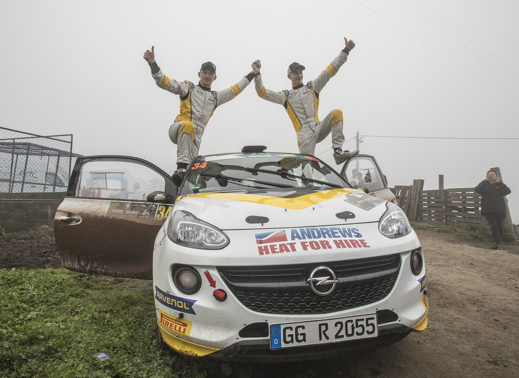 34 INGRAM Chris EDMONDSON Elliot Opel Adam R2 Ambiance Portrait during the 2017 European Rally Championship ERC Azores rally,  from March 30  to April 1, at Ponta Delgada Portugal - Photo Gregory Lenormand / DPPI