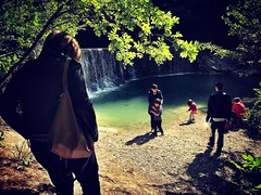 Real People Tree Leisure Activity Men Rear View Sunlight Water Lifestyles Outdoors Nature Day Women Togetherness Full Length People Waterfall Umbria Assisi Italia Nature Freshness Springtime