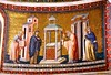 """""""Introduction to Temple"""" - mosaic (1291) by Pietro Cavallini (Rome about 1240-Rome about 1330) - Santa Maria in Trastevere Church in Rome"""