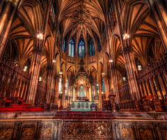 The main altar of St. Patrick's Cathedral in New York.