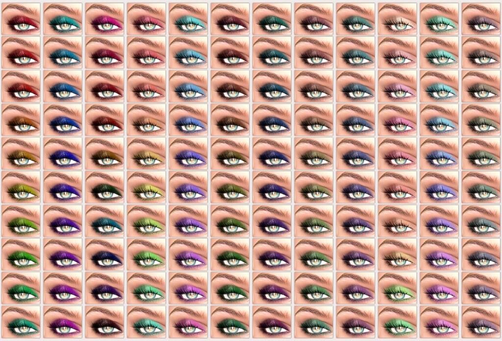 !IT! - Spring Fling Eyeshadows Swatches 1 - 12 - SecondLifeHub.com