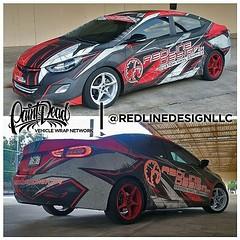 Custom wrap design for the Redline Design shop car, loving how it came together!  Owner: @nikolie_350z_mx5  Wrap Studio: @redlinedesignllc  Skepple Inc Artist: @jquintanapr