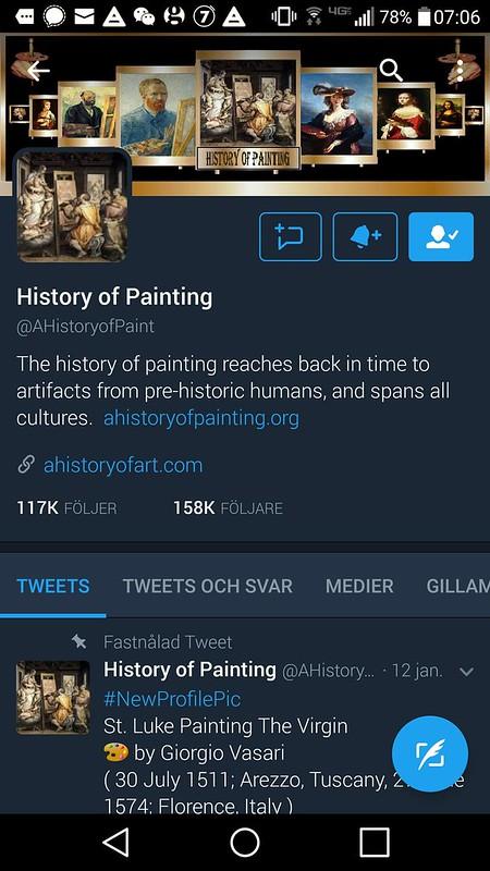 Konsthistoria på Twitter