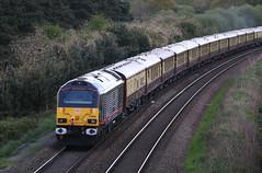 67006 'Royal Sovereign' Alstrom / General Motors Class 67 Bo-Bo, DB Cargo(UK), Pixash Lane, Keynsham, Somerset