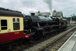 20170330-32_Black Five Engine 5MT 45407 + Train at Levisham Station