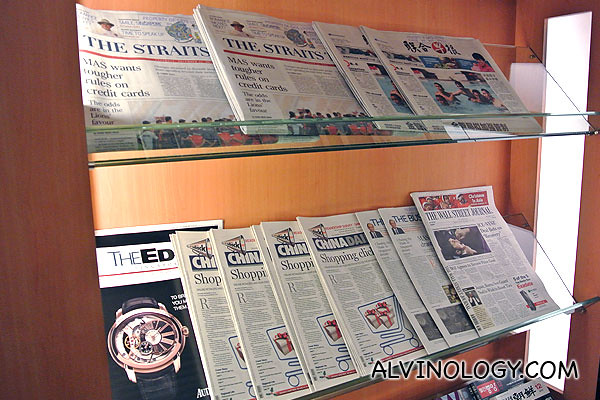 Newspapers rack