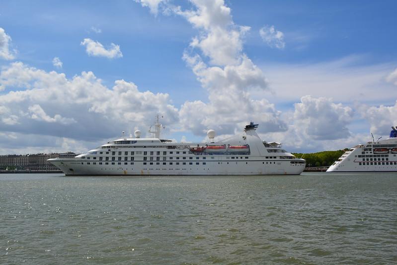 Accostage du MS SEABOURN PRIDE - Bordeaux - 19 mai 2013
