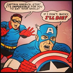 When Captain America EATS his mighty shield ... #comicbooks