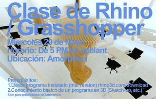 Amorphica Design Research Office - Curso Rhino / Grasshopper