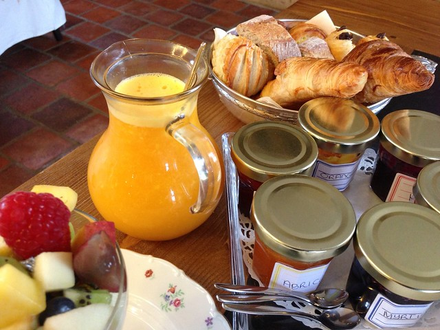 French breakfast at the Chateau d'Origny