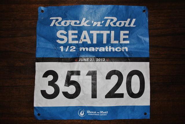 Rock and Roll Seattle 2013 Race Bib