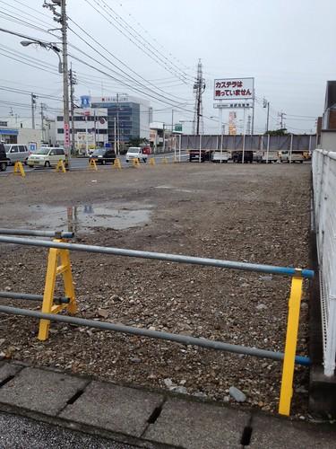 ハナテン中古車センターはさら地に by haruhiko_iyota