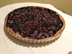 berry(0.0), pecan pie(0.0), produce(0.0), fruit(0.0), torte(0.0), pie(1.0), pastry(1.0), blueberry pie(1.0), blackberry pie(1.0), baked goods(1.0), tart(1.0), food(1.0), dish(1.0), dessert(1.0), cherry pie(1.0),