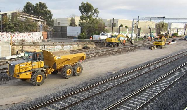 Regional Rail Link: Near Footscray, July 2013