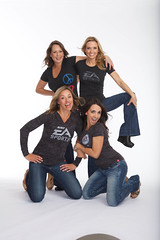 The girls rockin\' the EA SPORTS gear