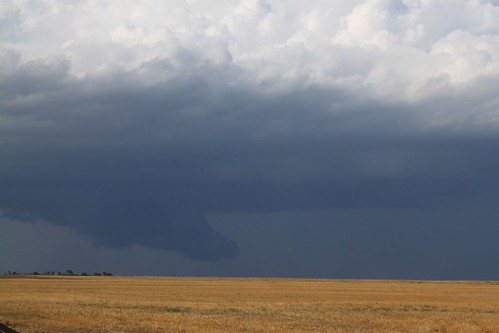 Funnel cloud in the distance, thankfully.