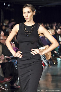 Eco Fashion Week Day 3 Evan Ducharme Fashion Collection Belladonna - sleeveless knee high dress