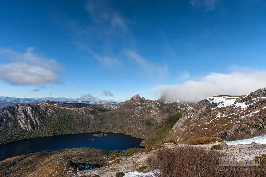 Breathtaking views of Dove Lake and Cradle Mountain from Marion's Lookout.