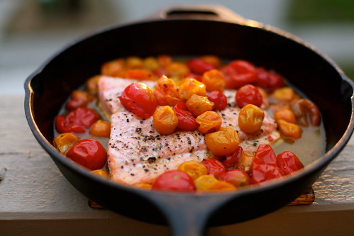 Roasted Salmon & Cherry Tomatoes