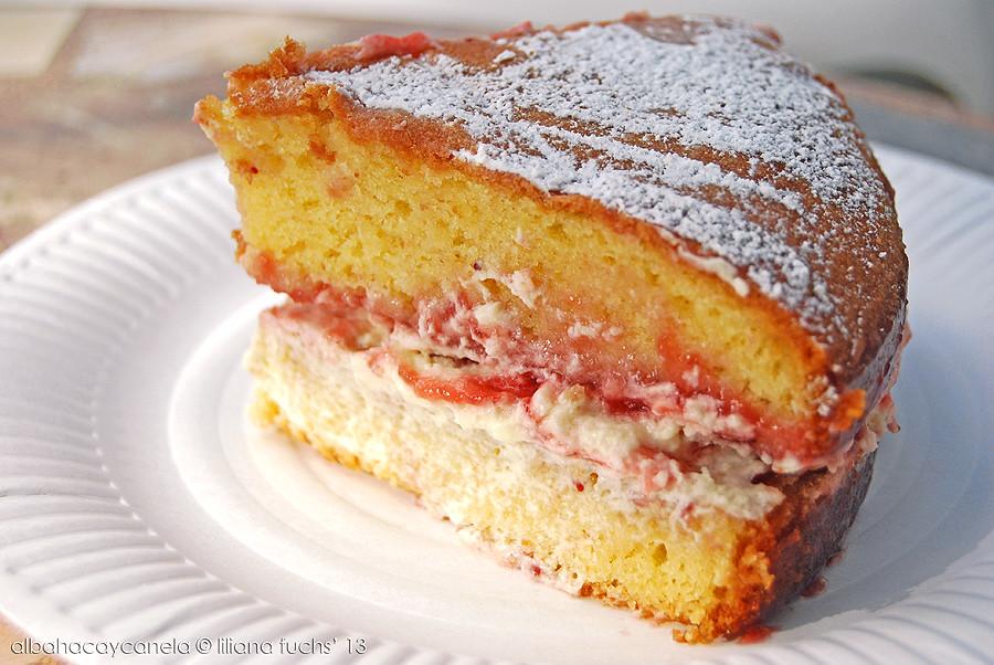 Large Victoria Sponge Birthday Cake