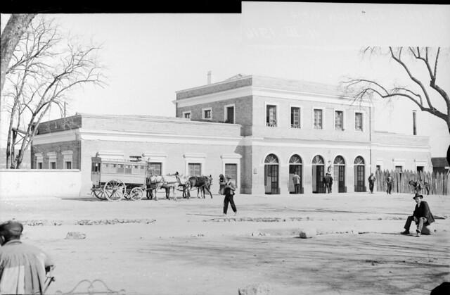 Antigua estación de ferrocarril de Toledo el 4 de marzo de 1914 © Archivo Histórico Ferroviario del Museo del Ferrocarril de Madrid. Fotografía de F. Salgado. 3490-IF MZA 0-7