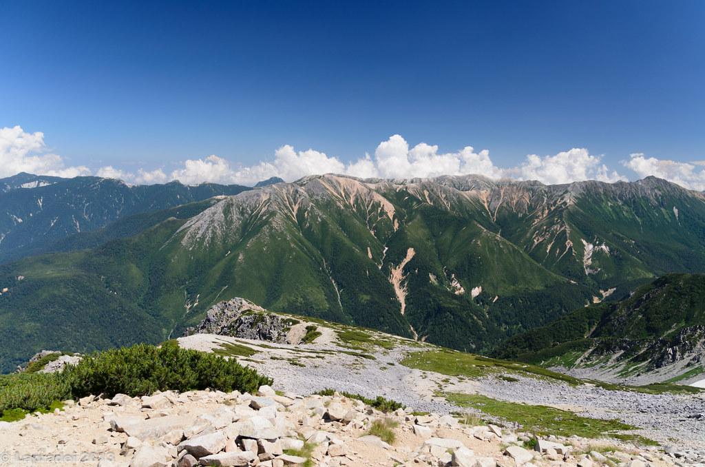 20130812 赤牛岳、水晶岳