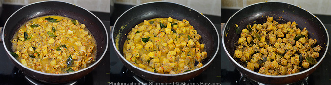 How to make vazhakkai curry - Step3