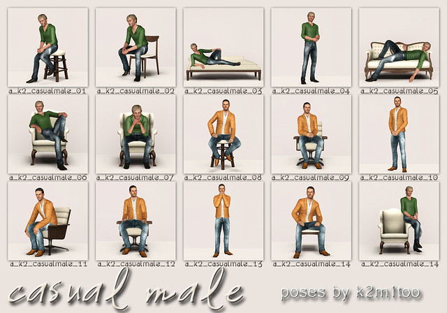 Casual Male - Contact Sheet