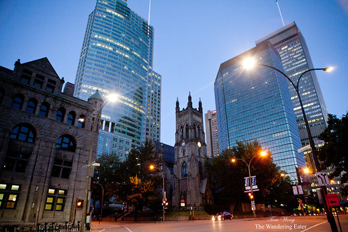 A view of  St. George's Anglican Church in Montreal, Canada