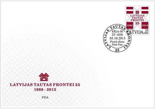 Latvijas Tautas frontes jubilejas aploksne
