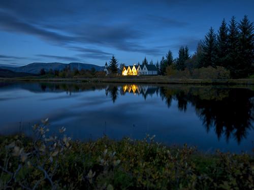 sunset sun landscape lava iceland bluehour thingvellir þingvellir ísland hraun supershot sólsetur 1exp nikond700 ævarg aevarg ævarguðmundsson afnikkor14mm24f28 coral6graduated