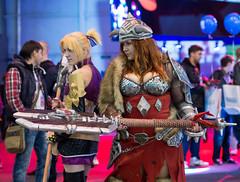 Viking girl cosplay at Igromir 2013