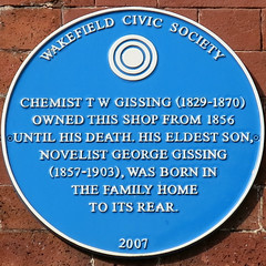Photo of George Gissing and T. W. Gissing blue plaque